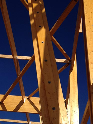 Structure en bois lamelle-colle